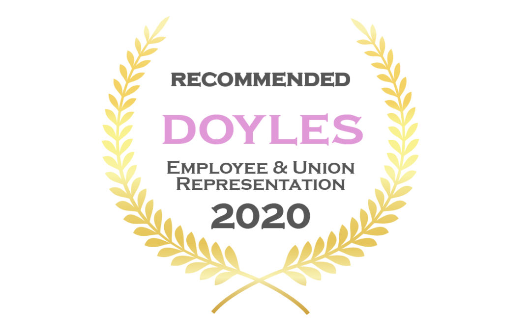 We've been awarded by Doyles Guide