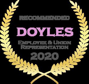 Doyles Employee and Union Represention Award 2020 Boylan Lawyers